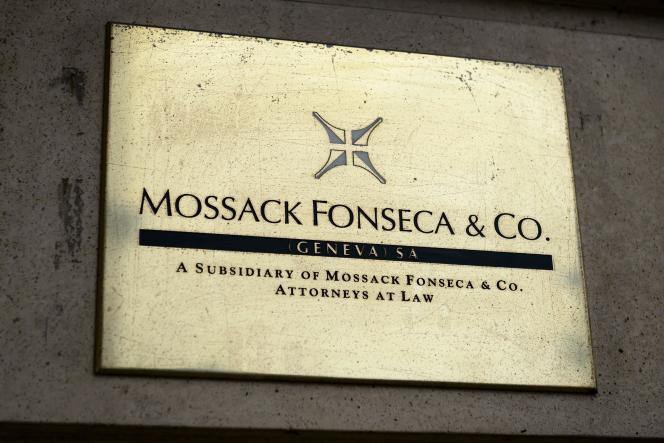 La plaque du bureau genévois de Mossack Fonseca, le 16 juin.