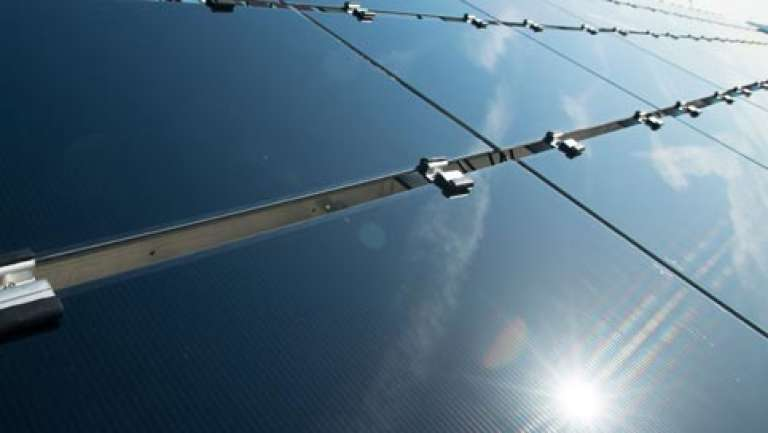 Des panneaux solaires du fabricant américain First Solar.