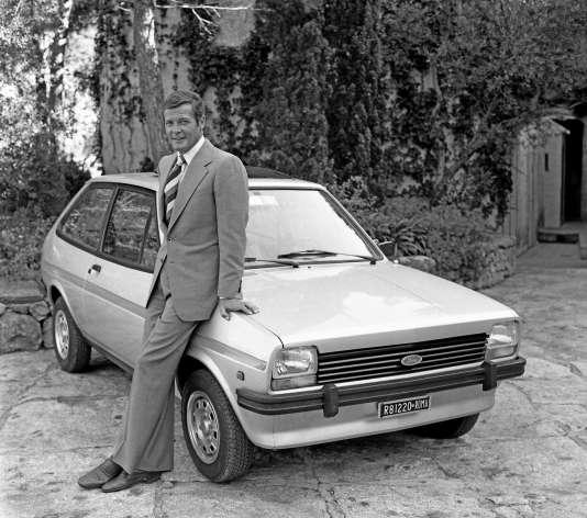 Roger Moore alias James Bond sur le tournage de «L'Espion qui m'aimait» (1976).
