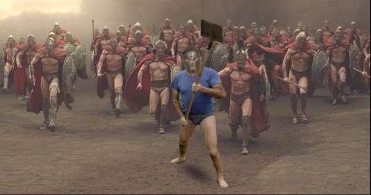 «L'homme à la pelle» dans le film 300.