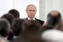 Le président russe, Vladimir Poutine, lors d'une cérémonie officielle le 12 juin à Moscou