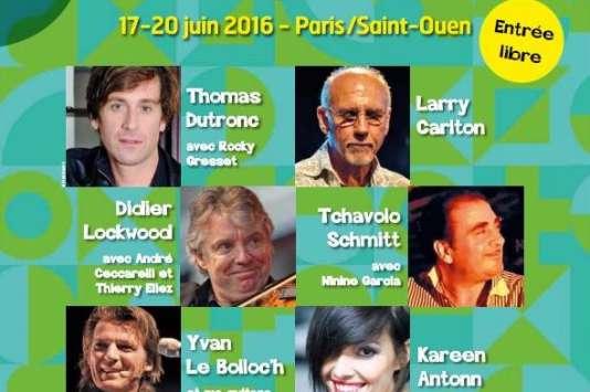 Affiche du Festival jazz musette des puces de Saint-Ouen.