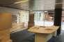 Dans les locaux de France Télévisions, le plateau en construction de la future chaîne d'informations en continu.