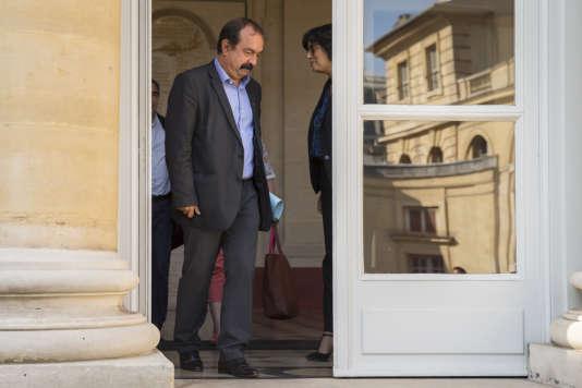 Le secrétaire général de la CGT, Philippe Martinez, a été reçu vendredi matin par la ministre du travail, Myriam El Khomri.