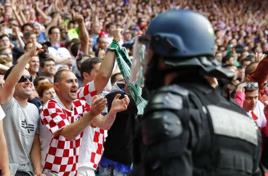 Lors du match République tchèque-Croatie, le 17 juin, à Saint-Etienne.