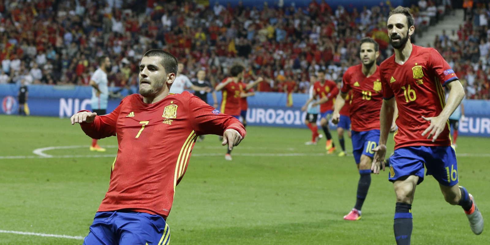 Alvaro Morata a inscrit un doublé en cinquante minutes.