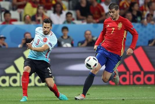 Alvaro Morata a inscrit un doublé contre la Turquie, à Nice.