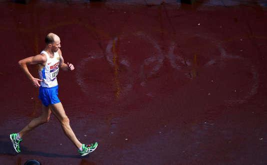 Le marcheur russe Sergey Kyrdiapkin, aux Jeux de Londres, en 2012.