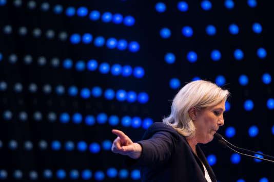 Marine Le Pen, à Vienne, le 17 juin, lors d'une réunion de l'extrême droite européenne.