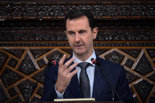 Le président syrien, Bachar al-Assad à Damas, le 7 juin.