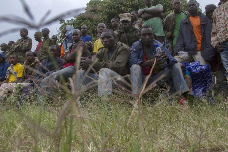 D'anciens rebelles du M23 dans le camp de réfugiés de Ramwanja, en décembre 2014.