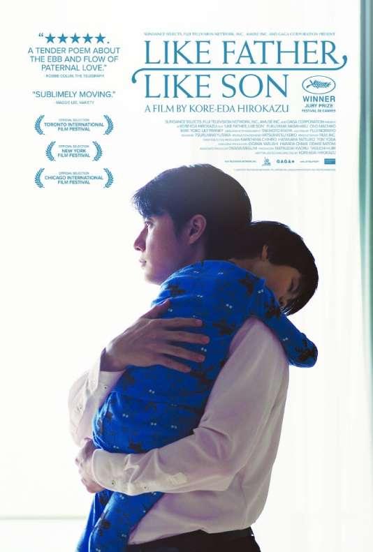 Affiche américaine de« Tel père, tel fils», d'Hirokazu Kore-Eda.