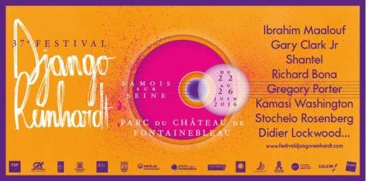 Affiche du 37e Festival Django Reinhardt.