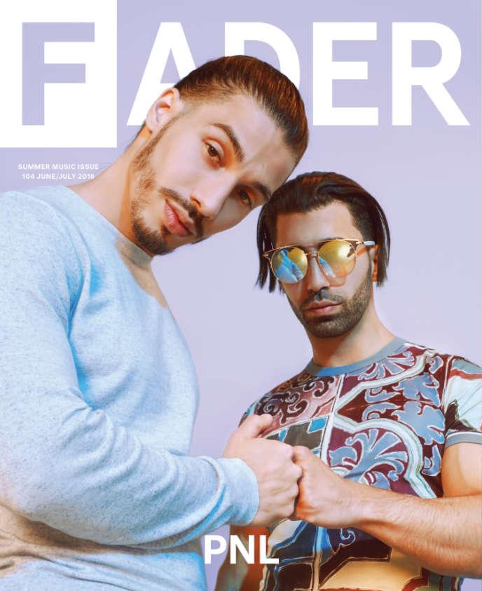 Couverture du numéro 104 (daté juillet 2016) du bimensuel américain« The Fader», avec le duo français PNL en couverture.