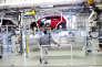 Ligne d'assemblage de la Golf Volkswagen, dans l'usine de Wolfsburg (Basse-Saxe).