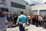 Les élus locaux étaient mobilisés avec les salariés, vendredi 17 juin, pour protester contre la décision du tribunal de Grenoble et défendre le projet de reprise d'Ecopla par les salariés. Etaient notamment présents, le député Pierre Ribeaud (PS), le président de la communauté de communes, Francis Gimbert et bien sûr le maire de st Vincent de Mercuze Philippe Baudain.