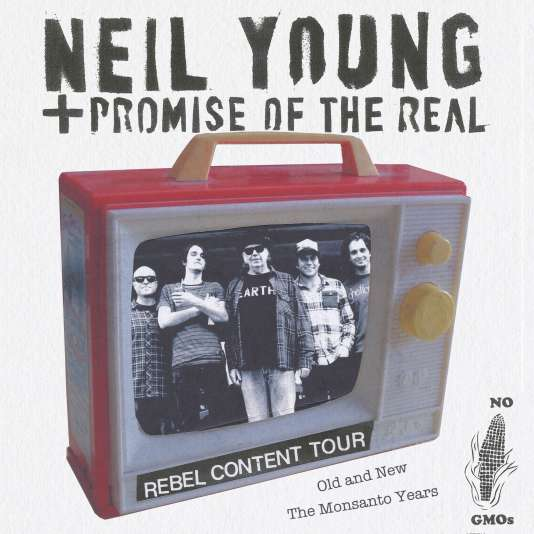 Affiche de la tournée Rebel Content Tour de Neil Young.