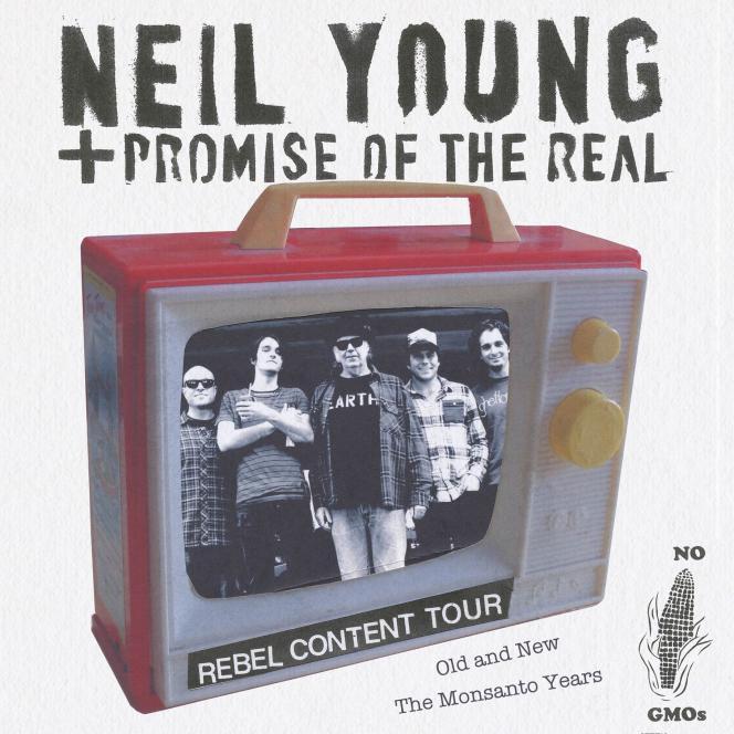 Affiche de la tournée Rebel Content Tour de Neil Young.