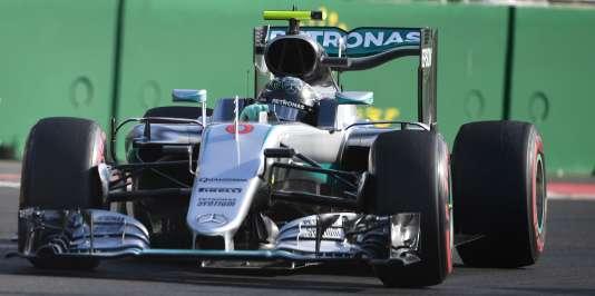 Nico Rosberg lors du Grand Prix d'Europe, à Bakou.