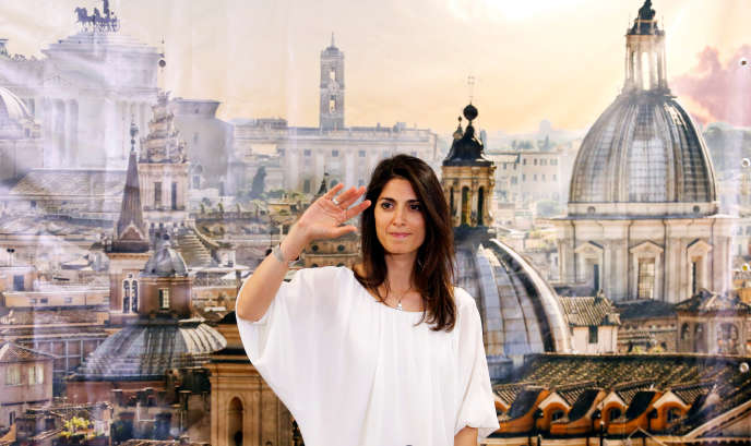 Virginia Raggi, du Mouvement 5 étoiles, élue maire de Rome, dimanche 19 juin 2016.