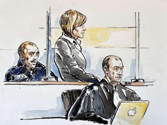 Audrey Chabot, lors de son procès en première instance au tribunal de Bourg-en-Bresse, le 27février.