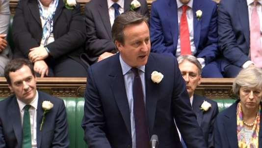 David Cameron lors de l'hommage à Jo Cox, le 20juin.