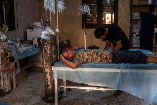 Un hôpital de campagne à l'entrée de Syrte (Libye), le 19 juin.