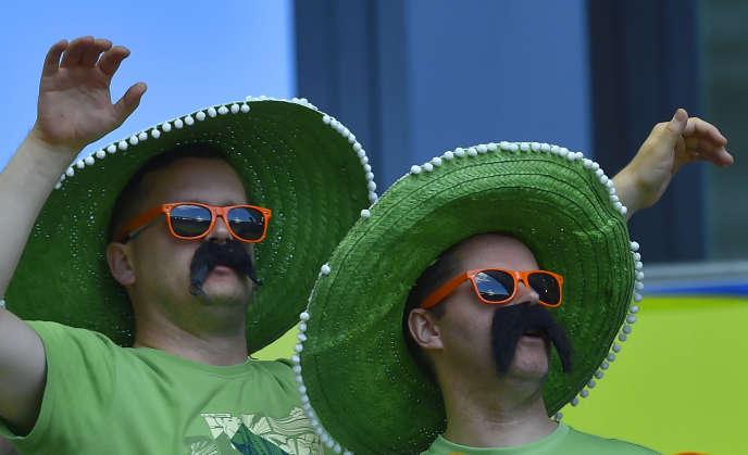 Des supporteurs irlandais lors du match contre la Belgique à Bordeaux le 18 juin.