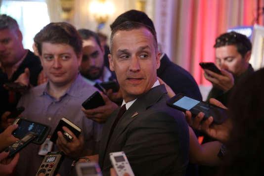 Donald Trump a renforcé son équipe et embauché des conseillers politiques plus expérimentés que Corey Lewandowski, ici à Palm Beach, en Floride, le 10 mars.