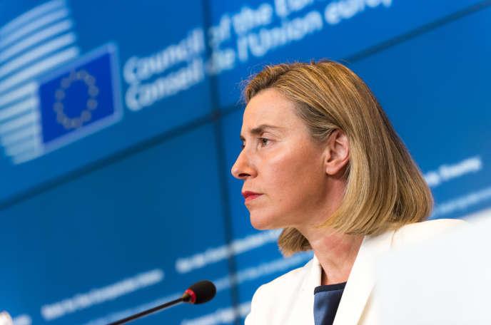 Federica Mogherini à Luxembourg, le 20 juin 2016.
