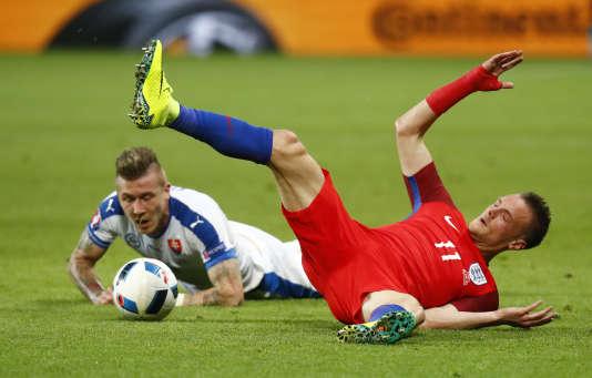 Malgré une belle performance personnelle, Jamie Vardy et ses coéquipiers anglais ont été neutralisés par les Slovaques lundi à Saint-Etienne.