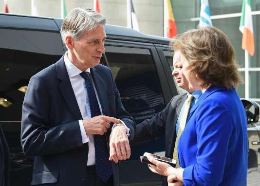 Philip Hammond, secrétaire d'Etat aux affaires étrangères britannique, le 20 juin au Luxembourg.