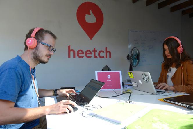 Le siège social de Heetch, à Paris, en septembre 2015.