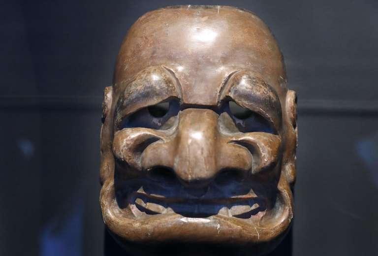 Masque traditionnel japonais exposé au musée du quai Branly à Paris à l'occasion de l'exposition«Jacques Chirac ou le dialogue des cultures».