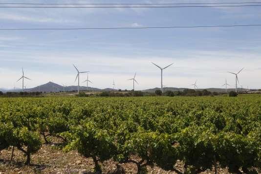 Parc éolien à Baixas, près de Perpignan, 20 juin 2016