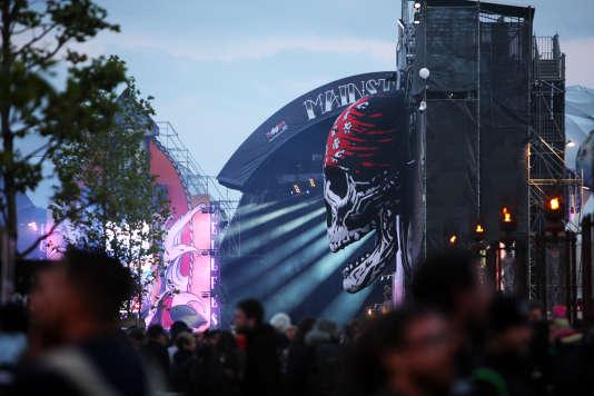 Le festival Hellfest Open Air à Clisson (Loire-Atlantique), dimanche 19 juin 2016.