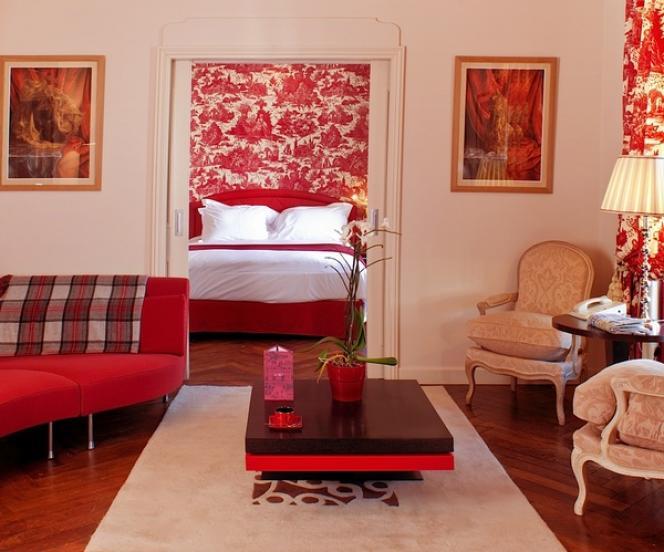 L'une des 72 chambres de l'hôtel Le Royal, place Bellecour.