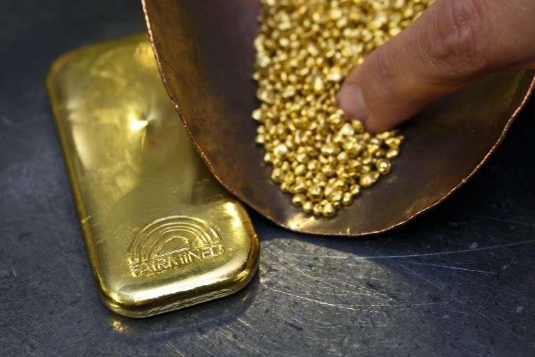 De l'or, en novembre 2015.