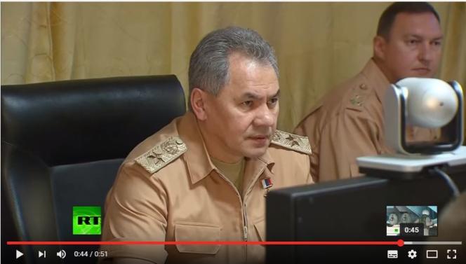 Le ministre de la défense russe, Sergueï Choïgou (capture d'écran).