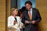 « Le fantôme de la corruption, de l'élitisme et de l'impuissance que beaucoup voient dans les sociétés ouvertes et démocratiques que nous pensions nôtres hante l'Europe» (Photo:Federica Mogherini,haute représentante pour les affaires étrangères de l'UEetBert Koenders, au Luxembourg, le 20 juin).