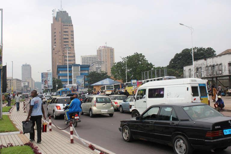 Boulevard du 30 Juin à Kinshasa, capitale de la République démocratique du Congo, le 21 juin 2016