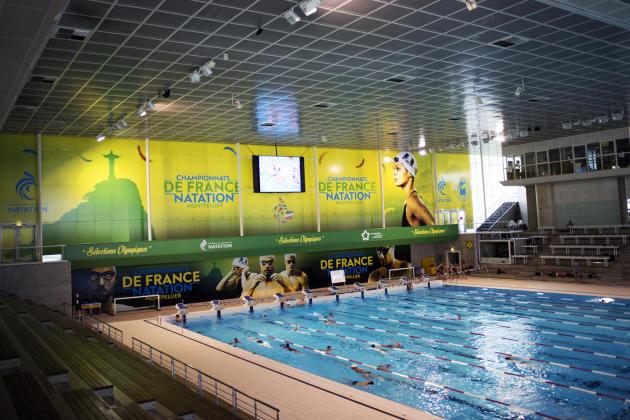 Piscine olympique de Montpellier dans le quartier Antigone.