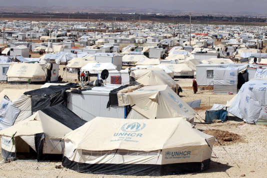 Le camp de réfugiés du HCR de Zaatari en Jordanie en 2014.