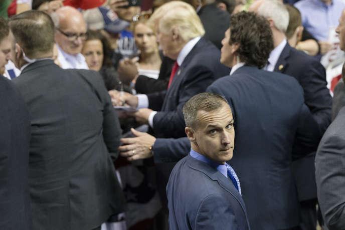 L'ancien directeur de campagne de Donald TrumpCorey Lewandowski, limogé lundi 20 juin, ici sur une photo datant du 18 avril 2016.