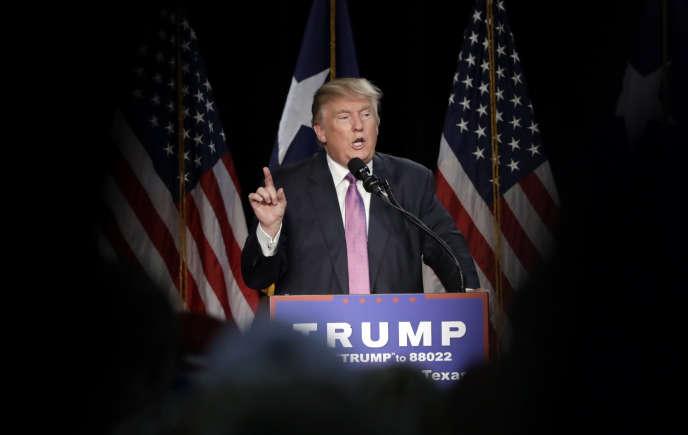Le candidat républicain à la présidentielle, Donald Trump, le 17 juin 2016 au Texas.
