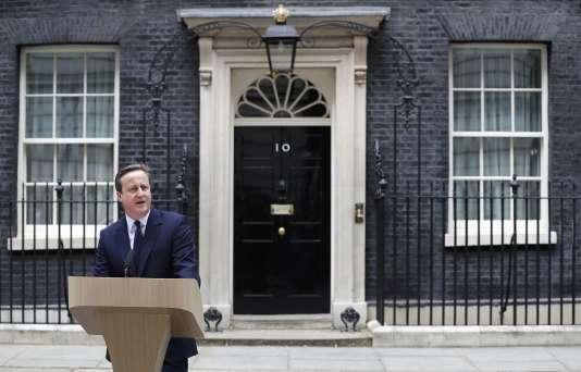 David Cameron lors de son allocution contre le« Brexit», mardi, devant le 10 Downing Street.