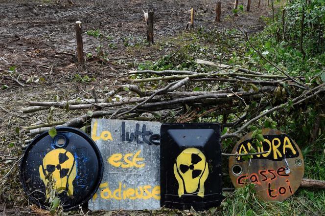 Le 21 juin, dans la forêt de Mandres-en-Barrois (Meuse), où l'Andra a entrepris des travaux de défrichement.