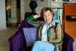 La journaliste et écrivaine Benoîte Groult dans sa maison à Hyères, le 7 avril 2007.
