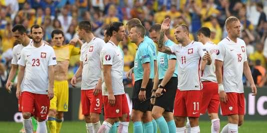 La joie des joueurs polonais après leur qualification.