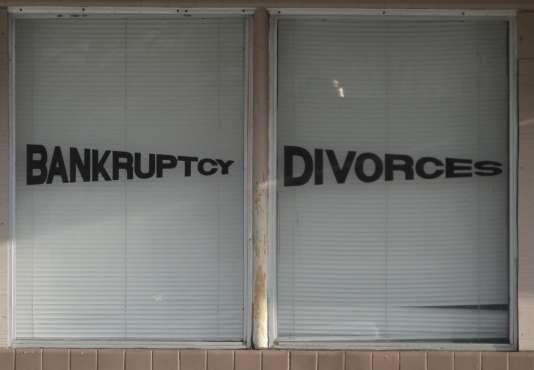 Le divorce, banqueroute du couple marié
